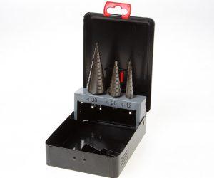 Plaatborenset HSS 3-delig getrapt 4-30mm