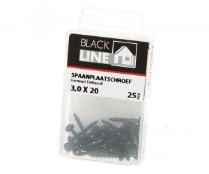 Spaanpl.schr.zwart ck tx10 3.0X20 Verpakt per 25 stuks