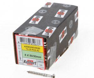 Vlonderschroef platverzonken kop RVS A2 T25 5.0 x 40/24mm